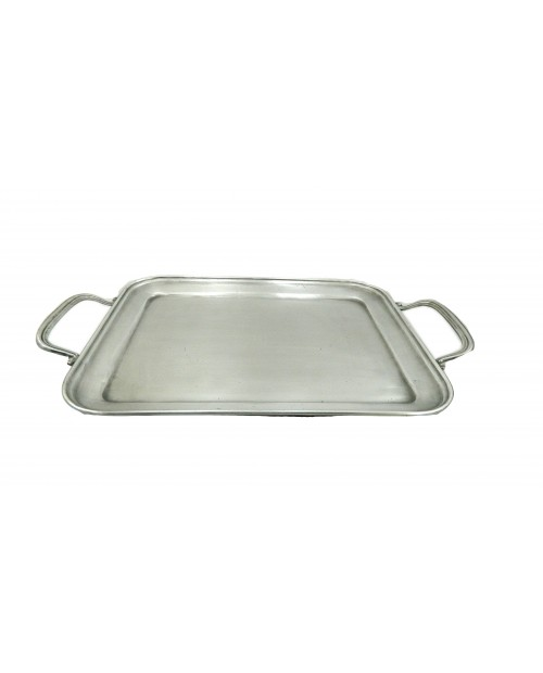 Rectangular pewter tray BSP 24.5 x 19.5 cm / 9.65 x 7.68 inches