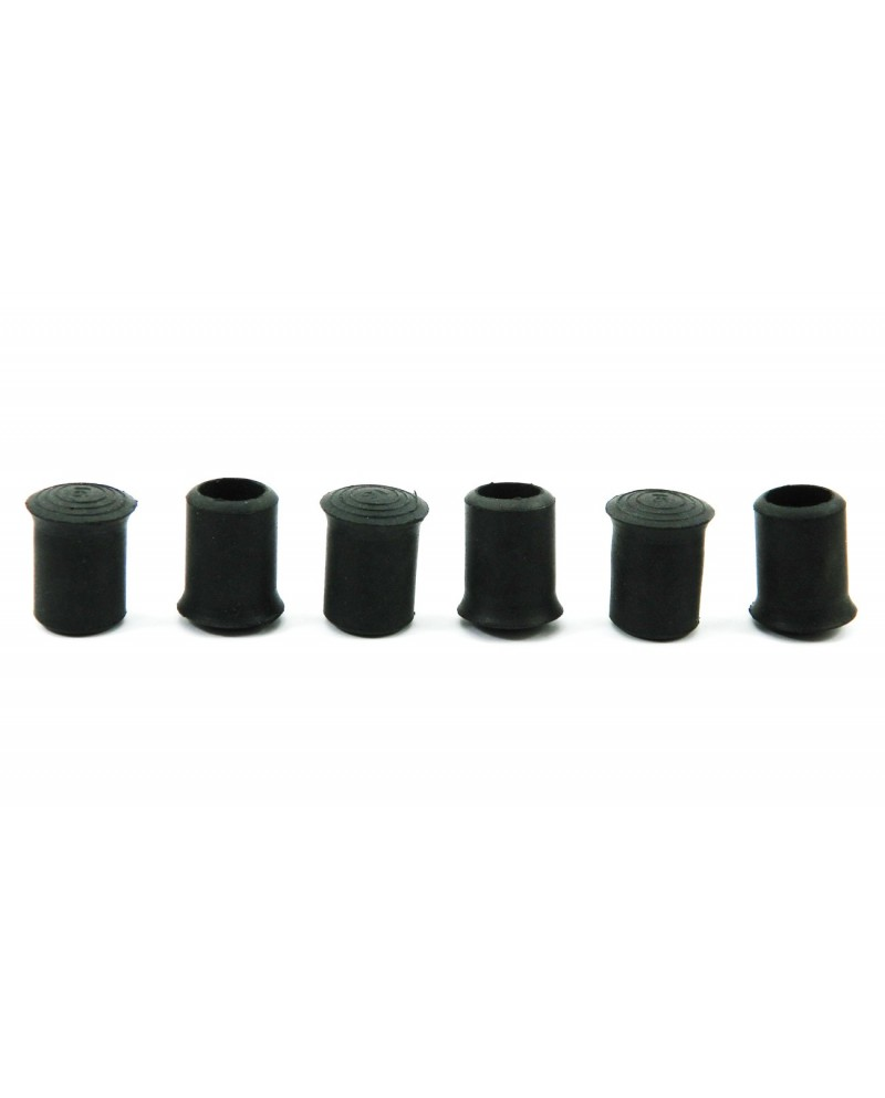 Replacement rubber tips for walking sticks - set of 6 16 mm