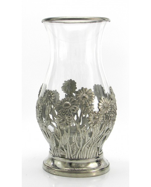 Vase, daisy great, Pewter